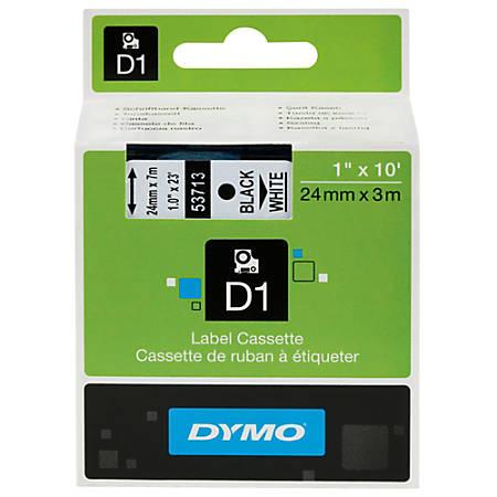 """DYMO® D1 53721 White-On-Black Tape, 1"""" x 23'"""