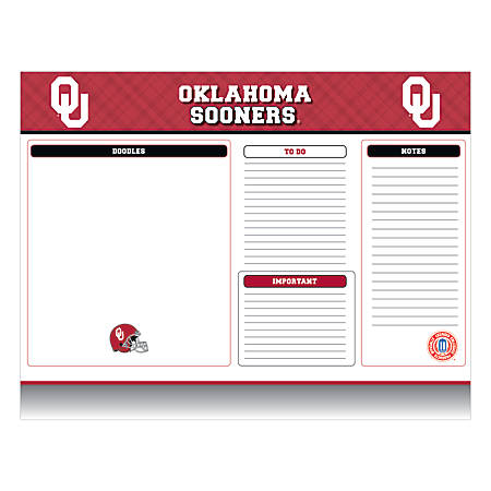 "Markings by C.R. Gibson® Desk Notepad, 17"" x 22"", Oklahoma Sooners"