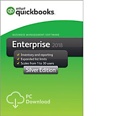 QuickBooks Desktop Enterprise Silver 2018 30