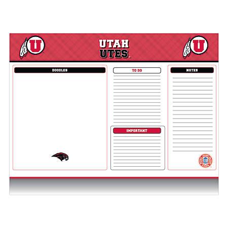 """Markings by C.R. Gibson® Desk Notepad, 17"""" x 22"""", Utah Utes"""
