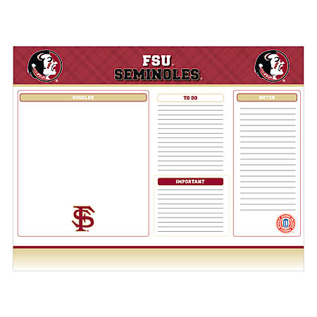"Markings by C.R. Gibson® Desk Notepad, 17"" x 22"", Florida State Seminoles"