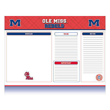"Markings by C.R. Gibson® Desk Notepad, 17"" x 22"", University Of Mississippi Rebels"