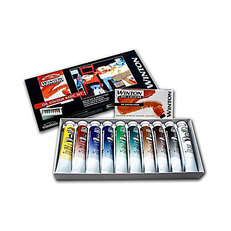 Winsor & Newton Winton Oil Color Basic Set, 21 mL, Set Of 10 Tubes