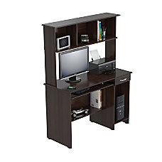 Inval Computer Workcenter With Hutch Espresso