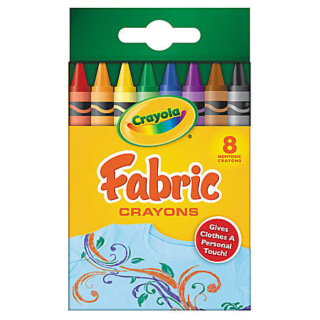 Crayola® Fabric Crayons Set, Box Of 8