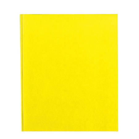 Office Depot® Brand School-Grade 3-Prong Paper Folder, Letter Size, Yellow