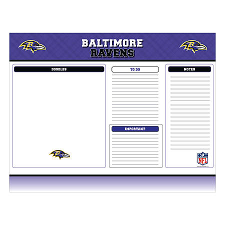"""Markings by C.R. Gibson® Desk Notepad, 17"""" x 22"""", Baltimore Ravens"""
