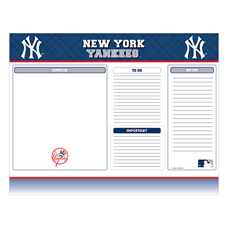 "Markings by C.R. Gibson® Desk Notepad, 17"" x 22"", New York Yankees"