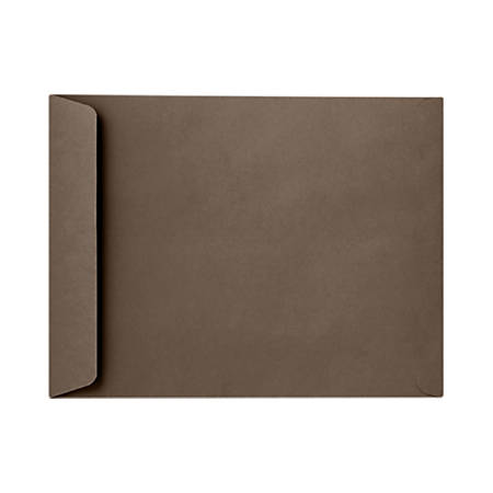 """LUX Open-End Envelopes With Peel & Press Closure, 6"""" x 9"""", Chocolate Brown, Pack Of 50"""