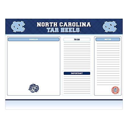 "Markings by C.R. Gibson® Desk Notepad, 17"" x 22"", North Carolina Tar Heels"