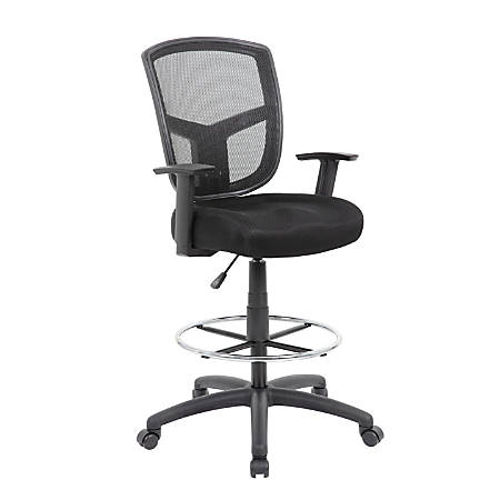 Boss Contract Mesh Drafting Stool, Black
