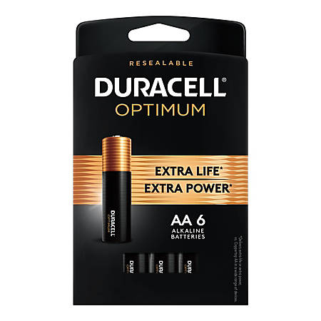 Duracell Optimum AA Batteries, Pack of 6
