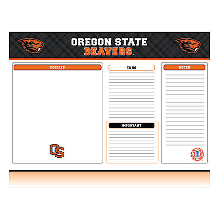 "Markings by C.R. Gibson® Desk Notepad, 17"" x 22"", Oregon State Beavers"