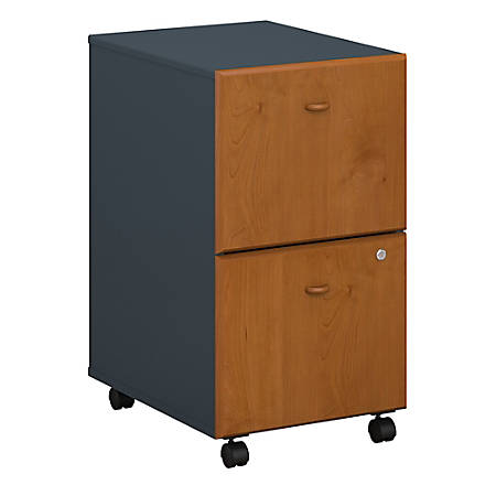 Bush Business Furniture Office Advantage 2 Drawer Mobile File Cabinet, Natural Cherry/Slate, Standard Delivery