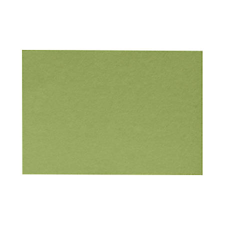 """LUX Flat Cards, A9, 5 1/2"""" x 8 1/2"""", Avocado Green, Pack Of 50"""