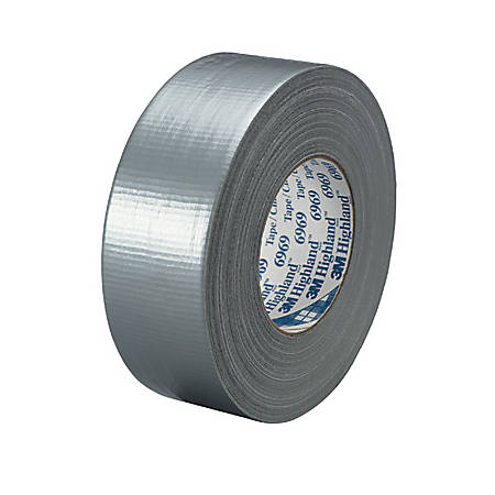 """3M™ 6969 Duct Tape, 2"""" x 60 Yd., Silver, Case Of 3"""