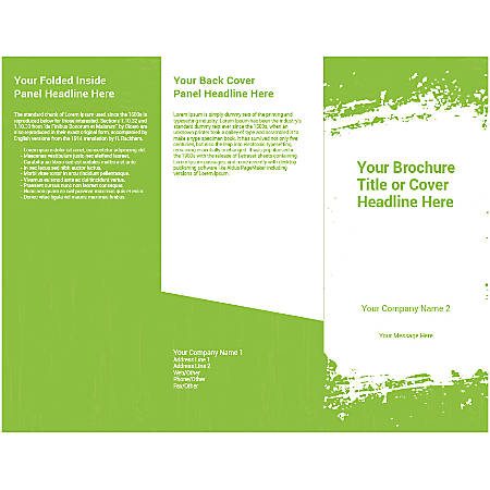 Customizable Trifold Brochure, Green Grunge