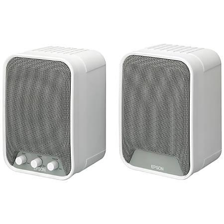 Epson 2.0 Speaker System, White, ELPSP02