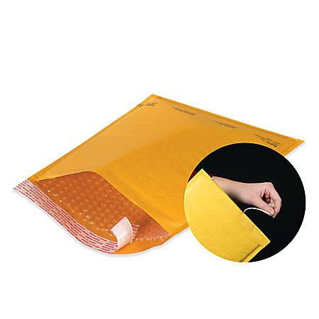 """Office Depot® Brand Kraft EZ Open Tear-Tab Bubble Mailers, #000, 4"""" x 8"""", Pack Of 25"""