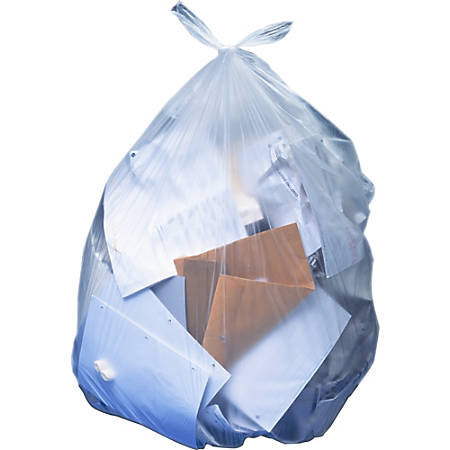 "Heritage Clear Linear Low-density Bags - 47"" Width x 43"" Length - Low Density - Clear - Linear Low-Density Polyethylene (LLDPE) - 100/Carton - Can"