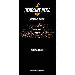 Custom Vertical Banner Black Halloween