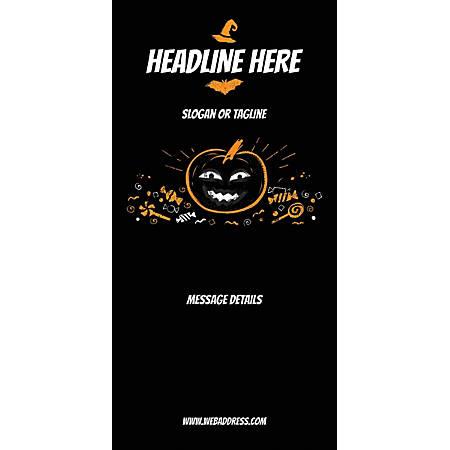 Custom Vertical Banner, Black Halloween