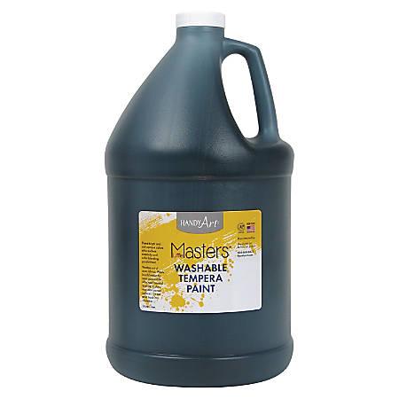 Handy Art L.Masters Washable Tempera Paint Gallon - 1 gal - 1 Each - Black