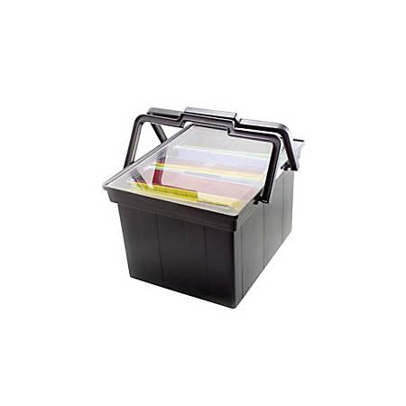 Advantus Companion Letter/Legal Portable File, B9 Size, Black