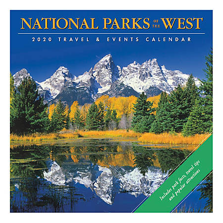 "Willow Creek Press Scenic Monthly Wall Calendar, 12"" x 12"", National Parks Of The West, January To December 2020"