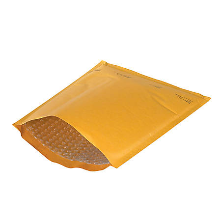 """Office Depot® Brand Kraft Heat-Seal Bubble Mailers, #00, 5"""" x 10"""", Pack Of 25"""