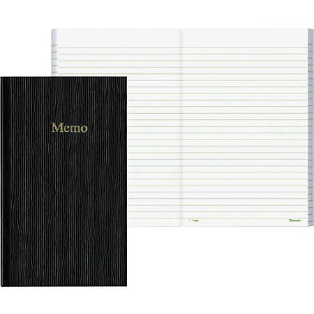 "Rediform Flexible Cover Ruled Memo Book, 4"" x 6 3/4"", 50 Sheets, Black"