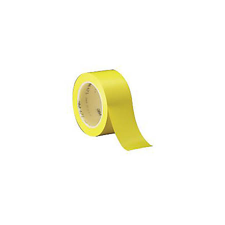 """3M® 471 Solid Vinyl Tape, 1"""" x 36 Yd., Yellow, Case Of 6"""