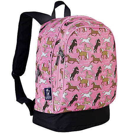 Wildkin Sidekick Polyester Laptop Backpack, Horses In Pink
