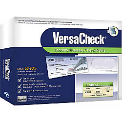VersaCheck Security Form 1000 Business Check