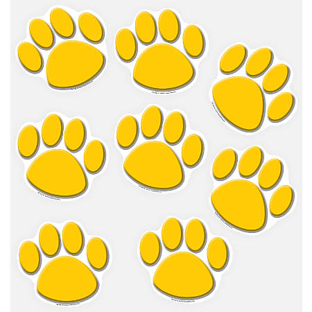 Teacher Created Resources Decorative Accents, Paw Prints, Gold, Pre-K - Grade 8, Pack Of 30