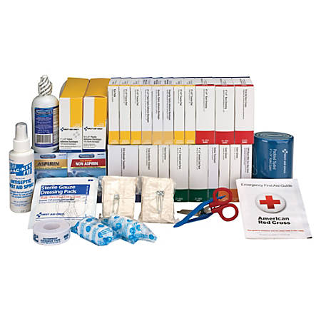 "First Aid Only 446-Piece ANSI B+ Refill Kit, 8 3/4""H x 9 1/8""W x 13 1/4""D, White/Blue"