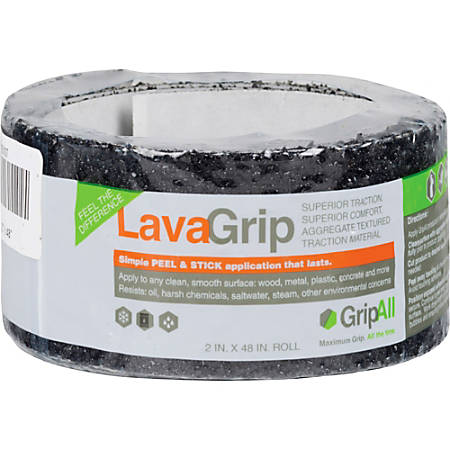 "GripAll LavaGrip Anti-Slip Strip, 2"" x 4', Black"