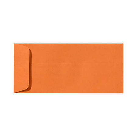 "LUX Open-End Envelopes With Peel & Press Closure, #10, 4 1/8"" x 9 1/2"", Mandarin Orange, Pack Of 500"