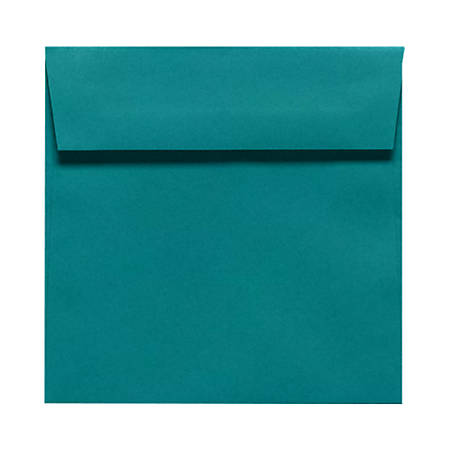 """LUX Square Envelopes With Peel & Press Closure, 5 1/2"""" x 5 1/2"""", Teal, Pack Of 250"""
