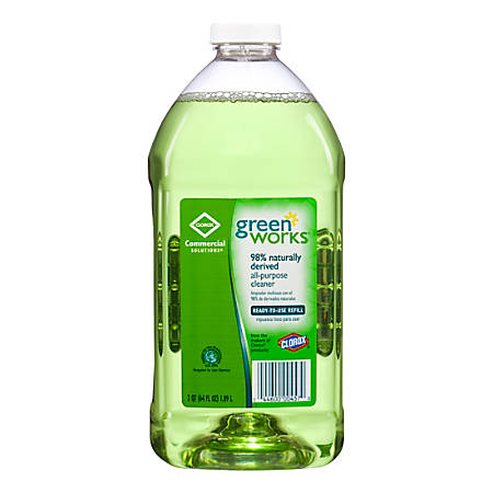 Green Works® Natural All-Purpose Cleaner, Unscented, 64 Oz.