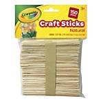 "Crayola® Wood Craft Sticks, 4-1/2"" x 3/8"", Natural, Pack Of 150 Sticks"