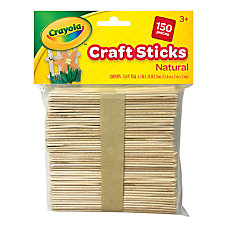 Crayola Wood Craft Sticks 4 12