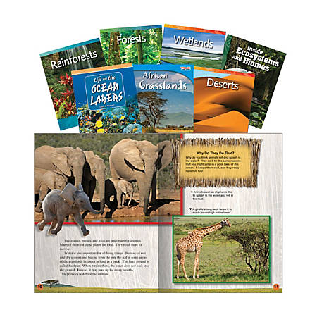Teacher Created Materials Biomes And Ecosystems Book Set, Grades 2 - 4, Set Of 7 Books
