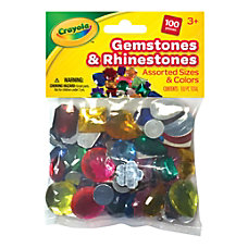 Crayola Acrylic Gemstones And Rhinestones Assorted