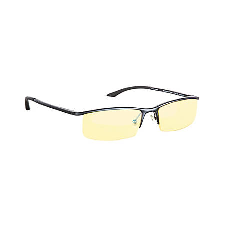 Gunnar Optiks Emissary Semi-Rimless Advanced Computer Glasses, Onyx Frame, Amber Lens, ST003-C001