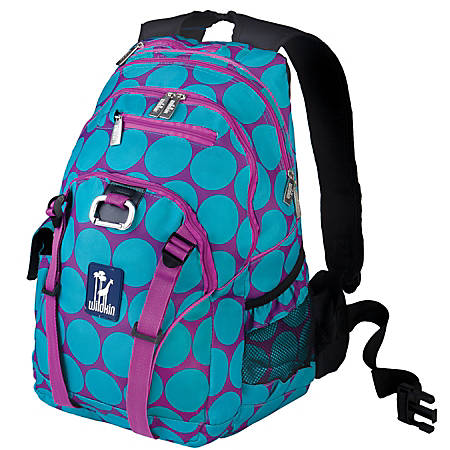 Wildkin Serious Laptop Backpack, Big Dot Aqua