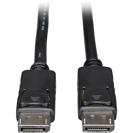 Tripp Lite 25ft DisplayPort Cable with Latches Video / Audio DP 4K x 2K M/M - (M/M) 25-ft.