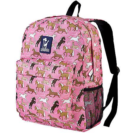 Wildkin Crackerjack Laptop Backpack, Horses In Pink