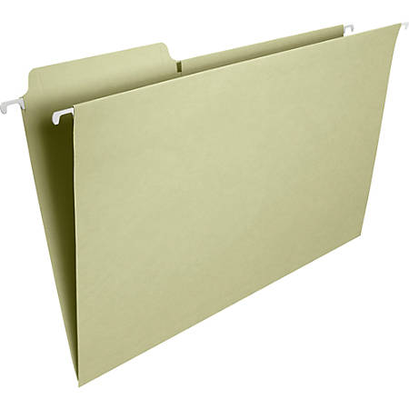 Smead® FasTab® Hanging Folders, 1/3 Cut, Legal Size, Moss, Pack Of 20