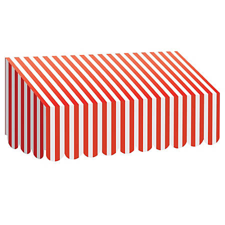 "Teacher Created Resources Classroom Awning, 12 1/2""H x 24""W x 8""D, Red/White Stripes"